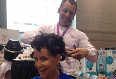 Michelle Breyer with her finished pin curl set
