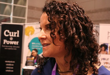 Michelle Breyer's curls after a Use Me Curly Blowout