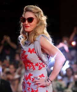 "Madonna on the ""W.E"" red carpet at the 68th Venice Film Festival"