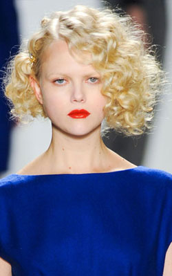 This Ruffian model was rocking some Nicole Kidman-style waves