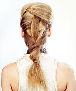 Matrix model wears a textured braid