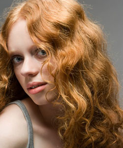 wavy red-headed young lady