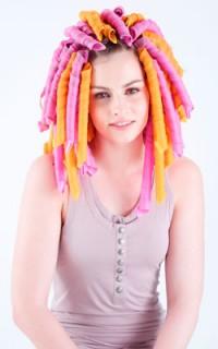 Girl using Curlformers