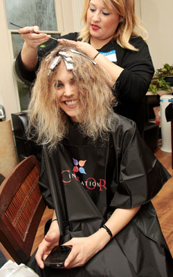 Tracey Wallace at the Matrix Color-A-Thon