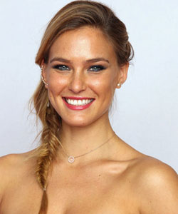 Bar Rafaeli with a fishtail braid