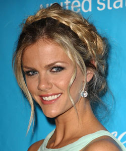 Brooklyn Decker wearing a milkmaid braid