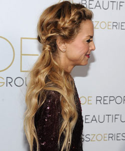 Rachel Zoe with a thick braid