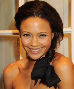 Thandie Newton wearing a side braid