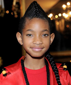 Willow Smith wearing a high French braid