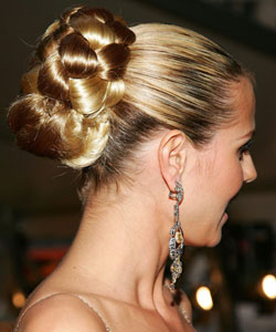 Heidi Klum with a Grecian-style braid