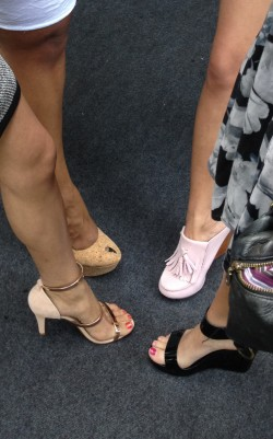 Comparing summer heels at the Viceroy brunch