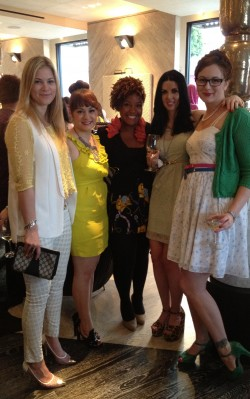 With other West Coast bloggers at the Kelly Wearstler cocktail soiree