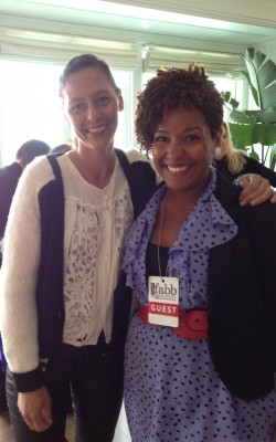 Cassidy Blackwell with Lucky's West Coast Editor Marlien Rentmeester