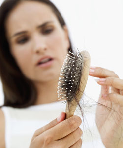 Woman dealing with hair loss