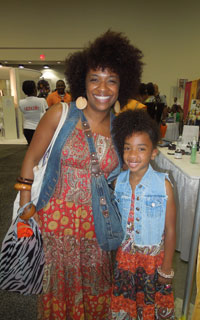 Mom and daughter at the World Natural Hair SHow