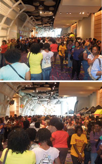 The crowd at the 2012 World Natural Hair Show