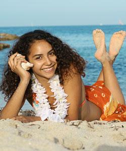 Hawaiian beach curly