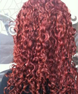 Curly red hair color