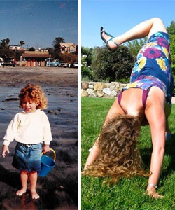 Kelsey Morrison as a child and older