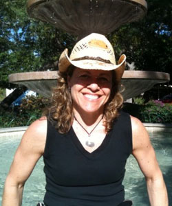 Curly brunette summer hair