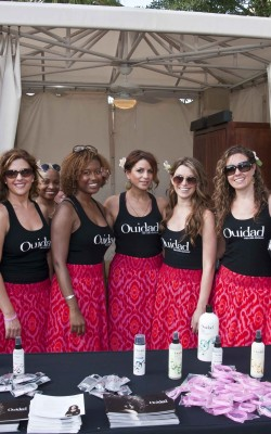 The Ouidad crew at the 2012 Curly Pool Party