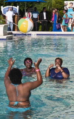 Pool volley ball at the 2012 Curly Pool Party
