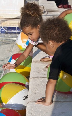 Curly kids at the 2012 Curly Pool Party
