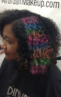 Airbrushed curls