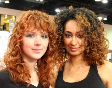 Ouidad stylists show off their brand's signature, perfected curls