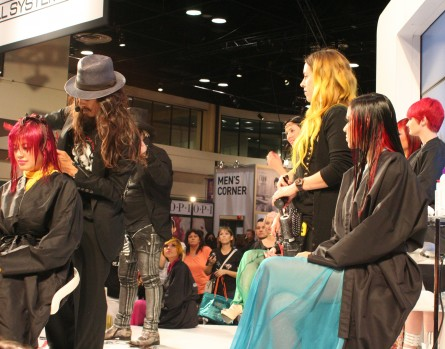 A rainbow of saturated hues on the Paul Mitchell stage