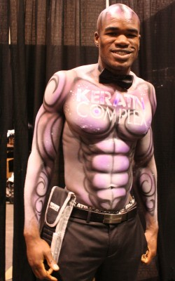 Airbrushed abs