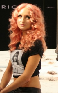 Pastel pink waves are on the Redken stage