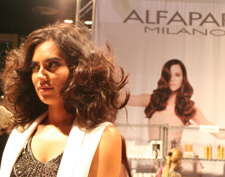 Wavy hairstyle at Alfaparf Milano