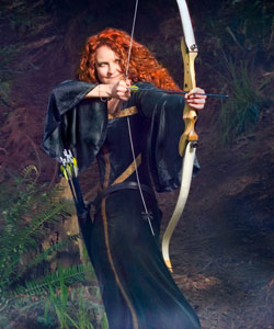 Jessica McGuinty as Merida from Brave