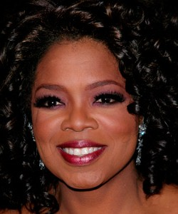 "Oprah at the Broadway opening of ""The Color Purple"""