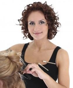 Curly hair stylist