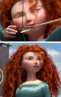 Princess Merida's Curly Hair