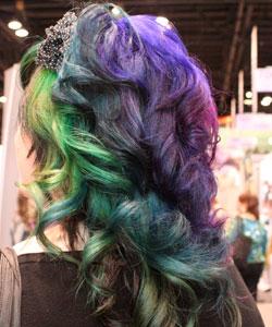 Pastel hair coloring