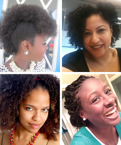 Four curly haired-women