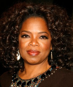 "Oprah at the premiere of ""The Great Debaters"""