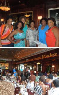 Group of natural ladies at Houston National Natural Hair Meetup Day