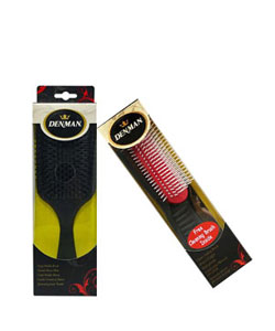 Denman brushes for detangling curly hair
