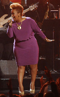 Amber Bullock performs at 2012 BET awards