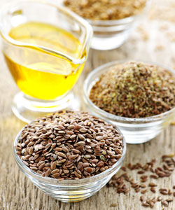 Oil and flax seeds for pre-poos
