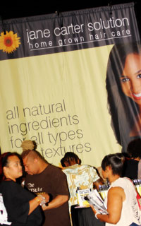 Jane Carter Solution Booth at the BB International Hair Show 2012