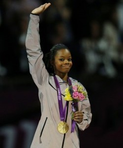 Gabby Douglas with her gold medal