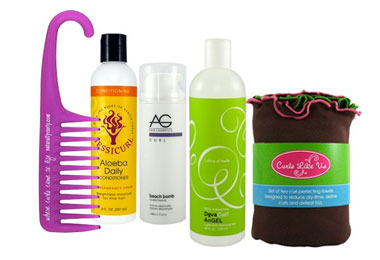 CurlMart No-Frizz Summer Waves Kit and Wavy Frizz-Fighting Kit