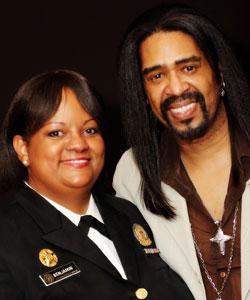US Surgeon General Dr. Regina M. Benjamin and hair stylist Elgin Charles