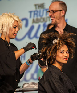 Styling with Paul Mitchell Curls line