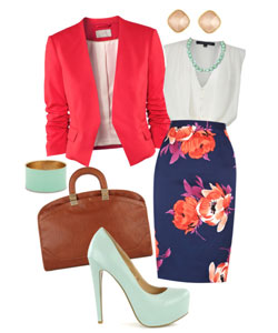 stylish professional outfit and accessories